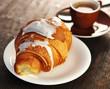Croissant, Kaffee