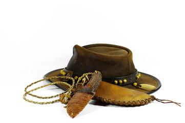 chasse,chapeau,coutelas,silex,cowboy,flint knife
