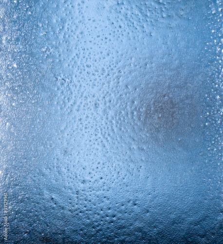 icy pattern on glass