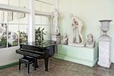 Piano in stylish interior.