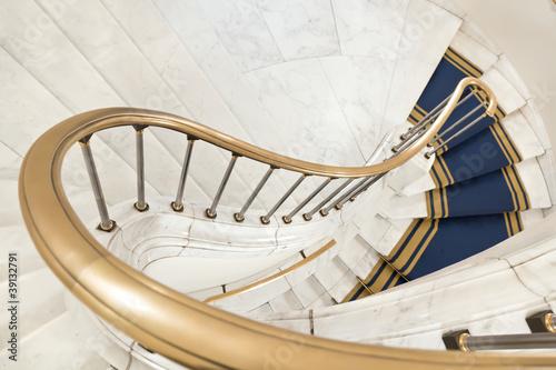 Foto op Plexiglas Trappen White stairs.