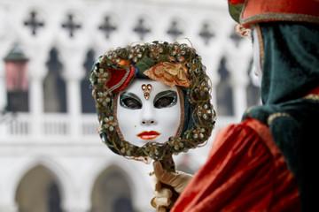 maschera Carnevale Venezia  con specchio