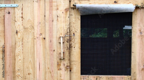 The main door of a chicken house