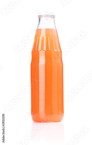 Grapefruit juice glass bottle