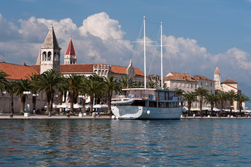 Seaside of Trogir Old Town Croatia Adriatic Sea