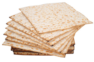isolated matza bread for passover celebration