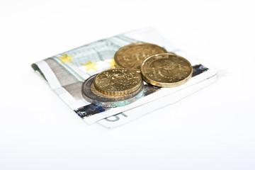 Monedas y billete