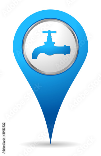 blue water tap icon