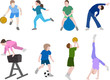 children sport illustration