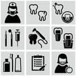 Dental care icons set.