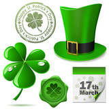 St. Patrick's Day symbols vector set.