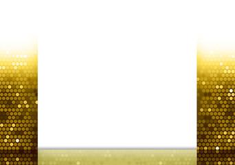 Sfondo con texture dorata e pannello bianco