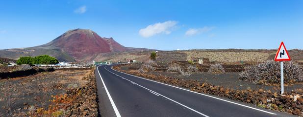 Empty road Lanzarote, Canary islands