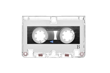 Old retro audio tape cassette