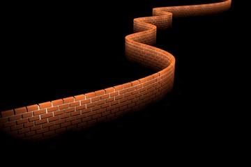 3D Artistic Brick Wall