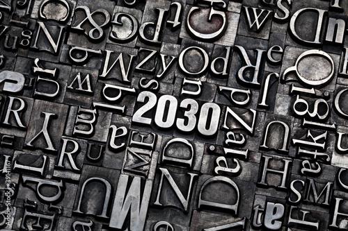 Leinwandbild Motiv 2030