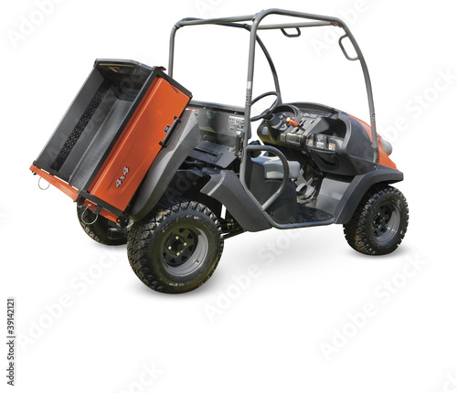 All terrain vehicle on a white. Clipping path included.
