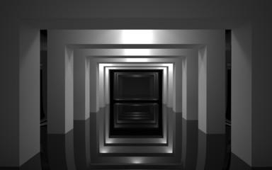 Fototapeta 3D abstrakcyjne wnętrze