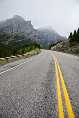 Highway in Kananaskis Country