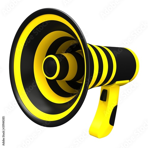 Megaphone in bright colors