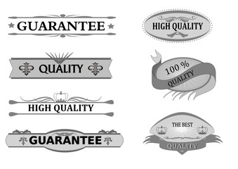 quality, guarantee sticker