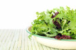 Bowl of Salad Leaves with White Background