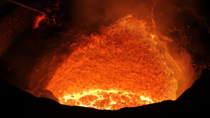 Melting Iron in the Furnace