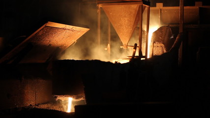 Melting Iron in the Foundry