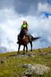 lone rider on horseback