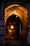 Barrel of wine in winerry. - Fine Art prints