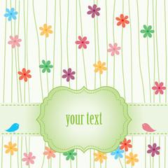 card fith flower