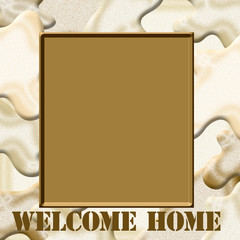 camo welcome home frame