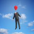 Balloon head flying