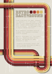 Vector retro background / template with stripes