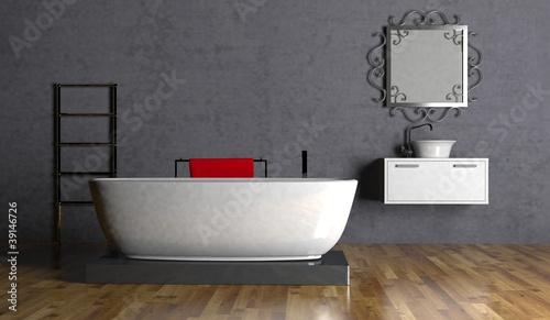 badezimmer badezimmer grau braun gamesageddon wohndesign bad vor betonwand fotolia - Bad Braun Grau