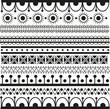 Set of ethnic pattern