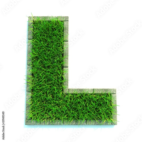 Beautiful Spring Letters and Made of Grass
