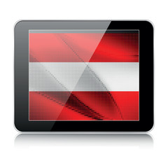 tablet icon with austrian flag