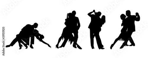 Couple dancing the tango - 39151920