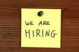 Recruitment - we are hiring poster