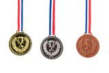 Fototapety Gold silver and bronze medals