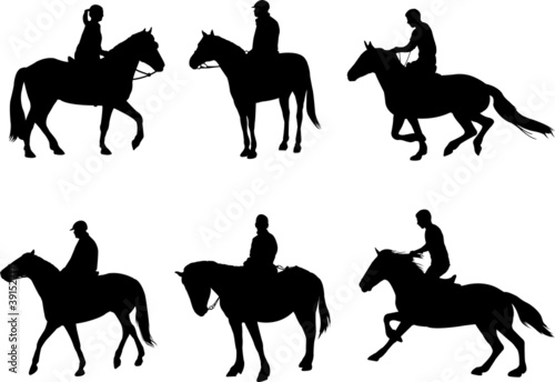 horsemen silhouettes - 39152717