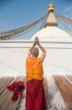 Nepal temple, pagoda,The shaman stupa pilgrimage poster