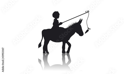Junge und Esel