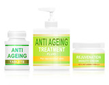 Anti ageing concept. poster