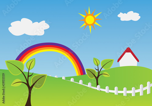 Staande foto Regenboog Home rainbow
