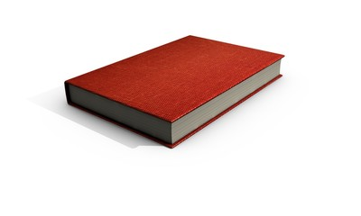 3d render  book on white background