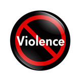 No Violence button poster