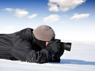 photographer outdoor in winter