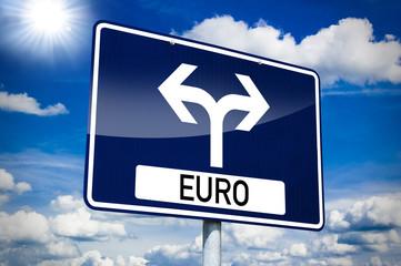 Ortseingangsschild mit Euro